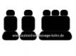 Set PKW - Komplettset (2 Vordersitze / Rücksitzbank / 5 Kopfstützen)